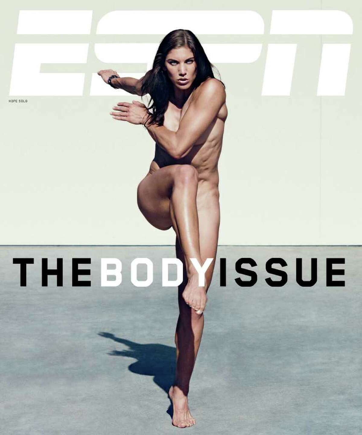 US soccer star Hope Solo poses for ESPN's Body Issue.
