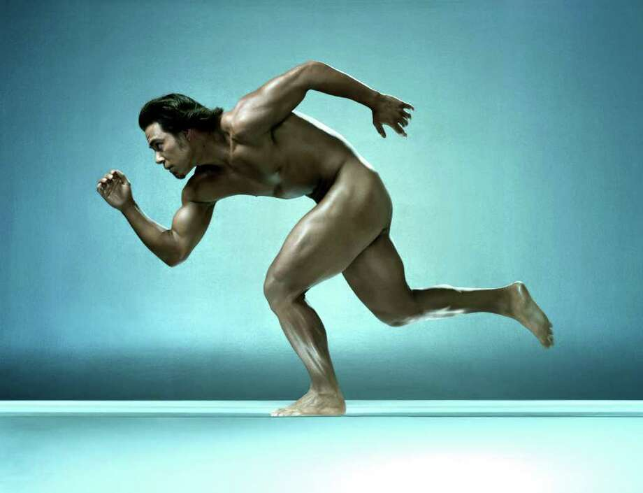 Olympic speed-skater Apolo Anton Ohno goes for the gold.  Photo: Photographed By Francesco Carrozzini/Courtesy ESPN