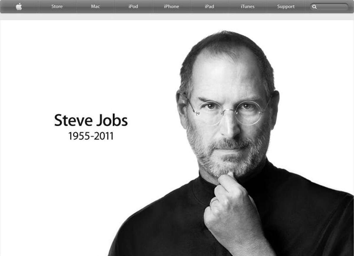 A screen grab from www.apple.com on Wednesday, Oct. 5, 2011.