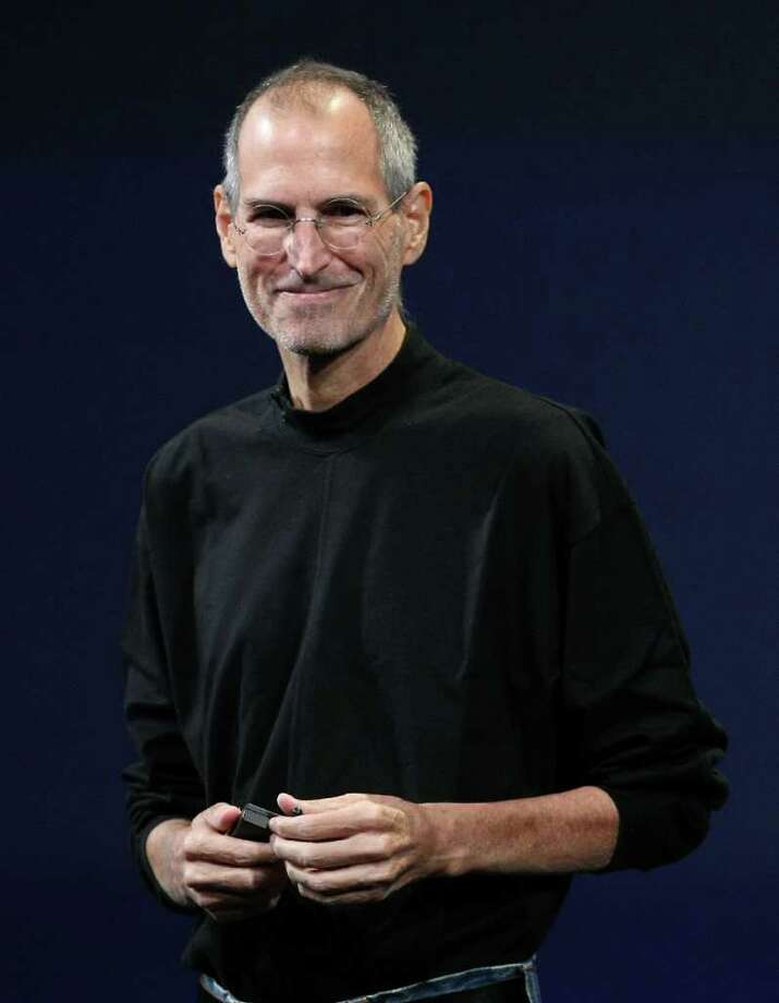SAN FRANCISCO - FILE:  Apple CEO Steve Jobs speaks during a special event on September 9, 2009 in San Francisco, California. Jobs, 56, passed away October 5, 2011 after a long battle with pancreatic cancer. Jobs co-founded Apple in 1976 and is credited, along with Steve Wozniak, with marketing the world's first personal computer in addition to the popular iPod, iPhone and iPad.  (Photo by Justin Sullivan/Getty Images) Photo: Justin Sullivan, Staff / 2009 Getty Images