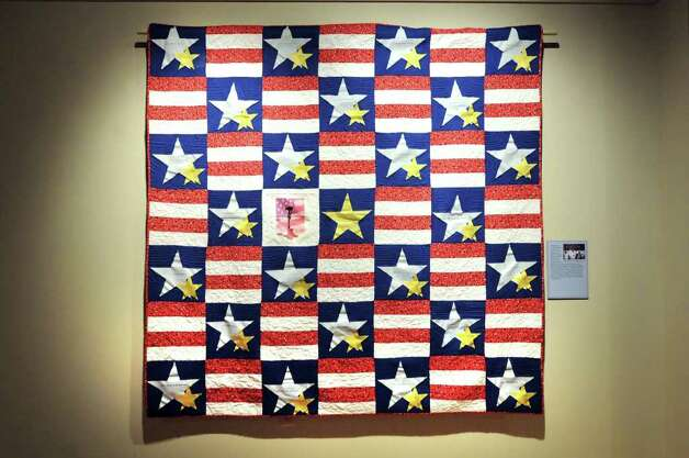 Capital Region 2 Blue Star Mothers of America quilt on display Wednesday, Oct. 5, 2011, at the State Military Museum and Veterans Center in Saratoga Springs, N.Y. (Cindy Schultz / Times Union) Photo: Cindy Schultz