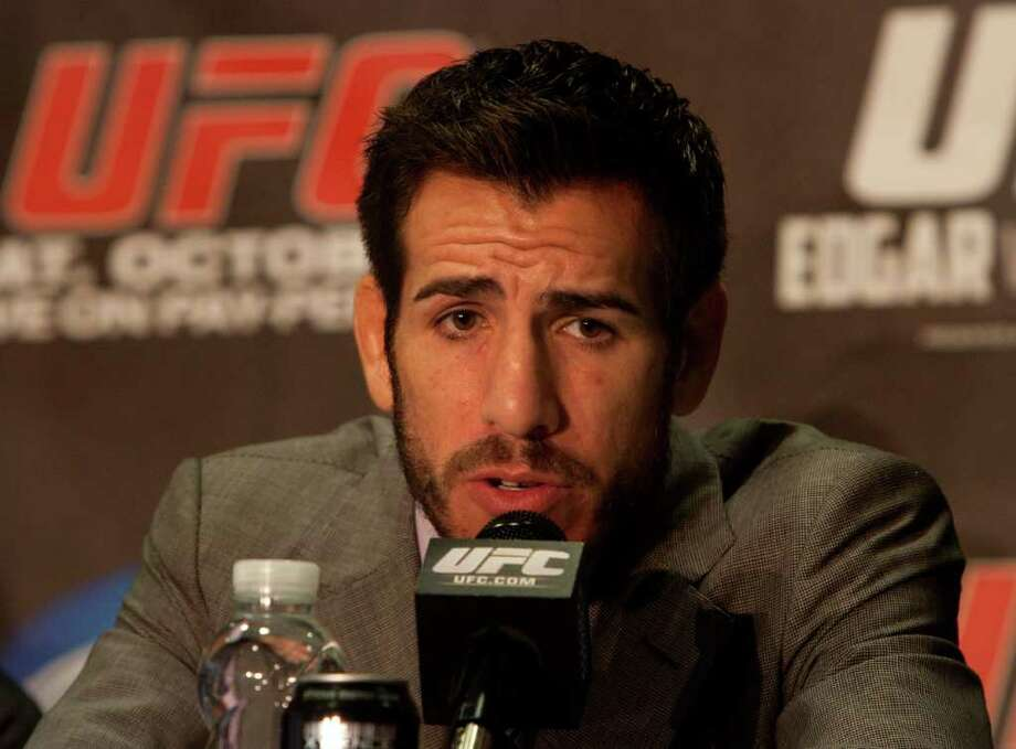 UFC fighter Kenny Florian speaks during a press conference. Photo: Cody Duty, Houston Chronicle / © 2011 Houston Chronicle