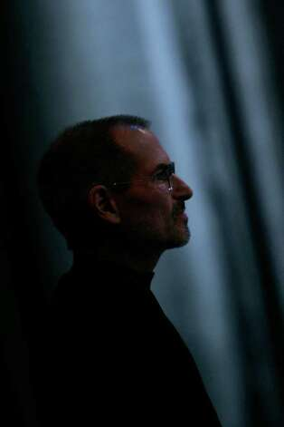 SAN FRANCISCO - FILE:  Apple CEO and co-founder Steve Jobs pauses as he delivers the keynote speech to kick off the 2008 Macworld at the Moscone Center January 15, 2008 in San Francisco, California. Jobs, 56, passed away October 5, 2011 after a long battle with pancreatic cancer. Jobs co-founded Apple in 1976 and is credited, along with Steve Wozniak, with marketing the world's first personal computer in addition to the popular iPod, iPhone and iPad.  (Photo by David Paul Morris/Getty Images) Photo: David Paul Morris / 2008 Getty Images