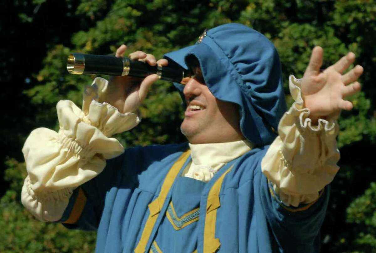 Patrick Raimo of Delmar dresses as Christopher Columbus in the Columbus Day parade and 19th Annual Albany Columbus Italian Festival at Wasington Park in Albany Sunday 10/09/2010. (Michael P. Farrell / Times Union archive)