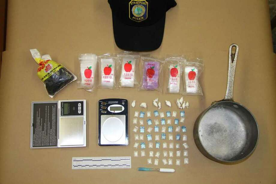 Crack cocaine and other drug paraphernalia were seized from a Stratford home and three brothers were charged with dealing. Photo: Contributed Photo