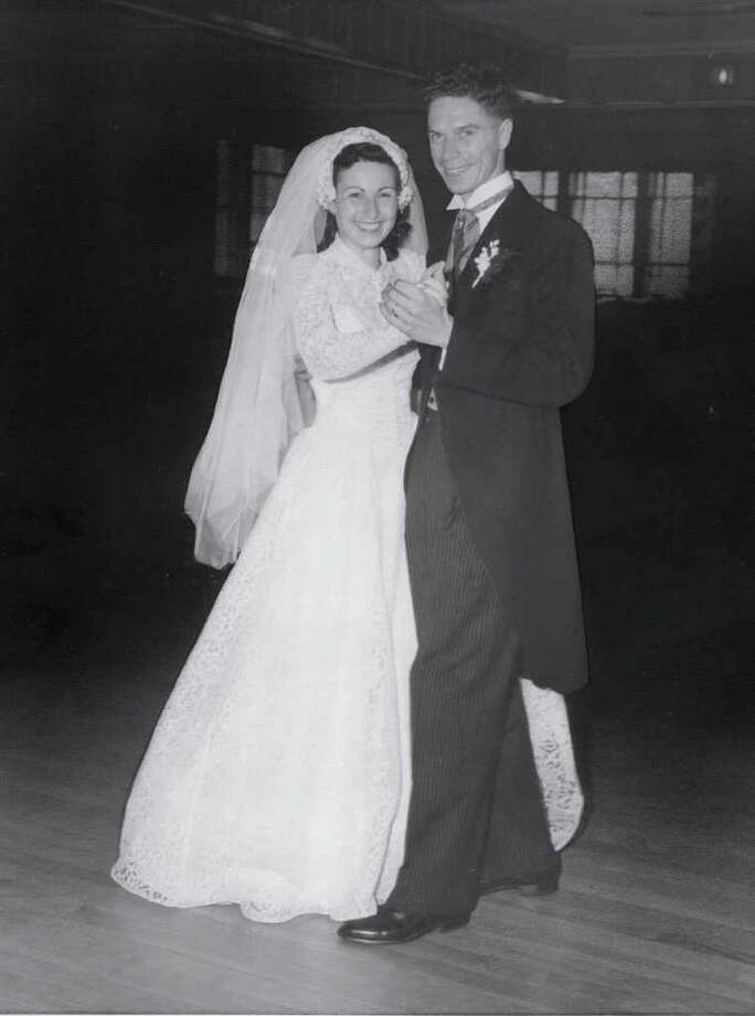 Nora Speer and Henry Cubberly were married Aug. 25, 1951 in Lynbrook, N.Y. They have lived in Danbury for more than 50 years, during which time they've raised six children and welcomed 10 grandchildren and three great-grandchildren. Photo: Contributed Photo