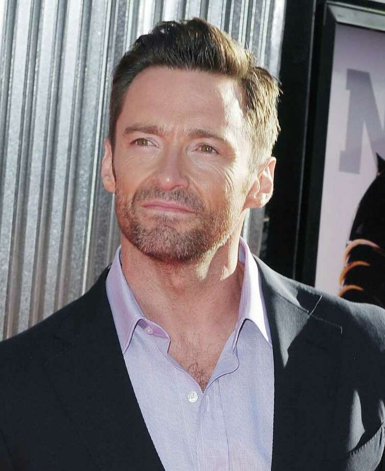 "Hugh Jackman arrives at the premiere of ""Reel Steel"" at Universal City  Sunday, Oct. 2, 2011, in Los Angeles.  (AP Photo/Katy Winn) Photo: Katy Winn / WINNK"