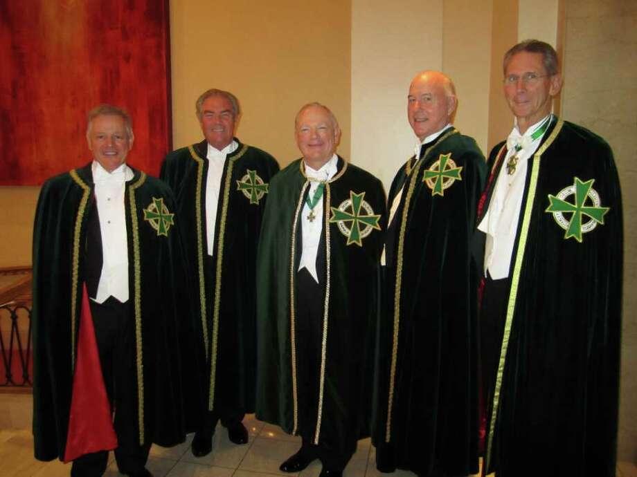 Brenda Love John Kotts, from left, Boysie Bollinger, Vidal Martinez, Reed Morian and John Poindexter Photo: Brenda Love