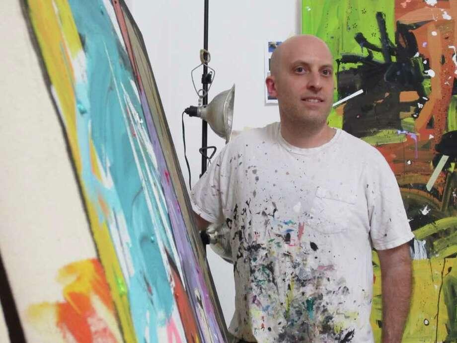 DOUGLAS BRITT : STAFF CHEEKY: Houston artist Howard Sherman is known for his trademark blend of explosiveness and sometimes raunchy humor. Photo: Douglas Britt