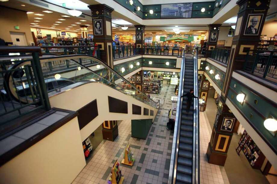 The inside of the U Village Barnes & Noble, a favorite place for 16 years to buy books, browse through magazines and get music you could hold in your hands. The store is pictured on Oct. 6, 2011, a few months before it closed on Dec. 31, 2011. Photo: JOSHUA TRUJILLO / SEATTLEPI.COM