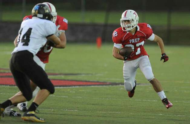 Fairfield Prep football vs. Jonathan Law Thursday Oct. 6, 2011 at Alumni Field at Fairfield University. Photo: Autumn Driscoll