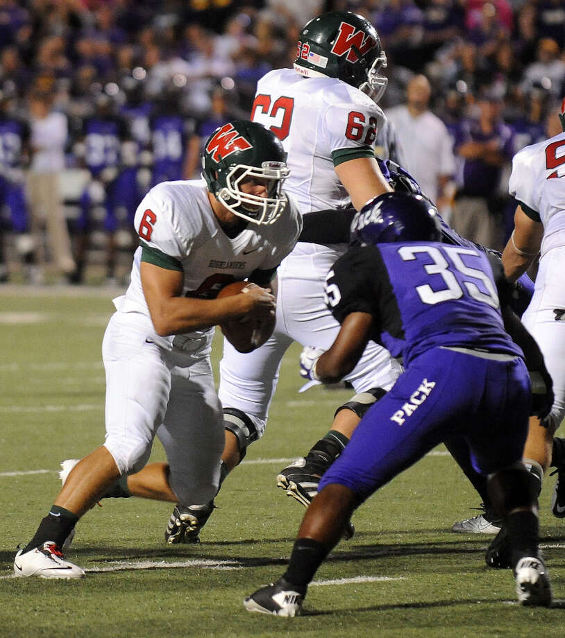 The Woodlands' Cooper Woodyard scored his team's first touchdown. (Joel Andrews/Lufkin News)