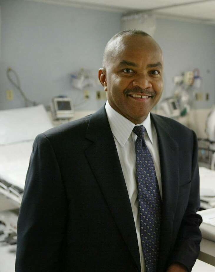 Gastroenterologist Strick Woods, of Trumbull, received the Sta Vincent de Paul Mission Award as St Vincent's 2009 Physician of the Year, Wednesday, Oct. 14, 2009. Photo: Phil Noel / Connecticut Post