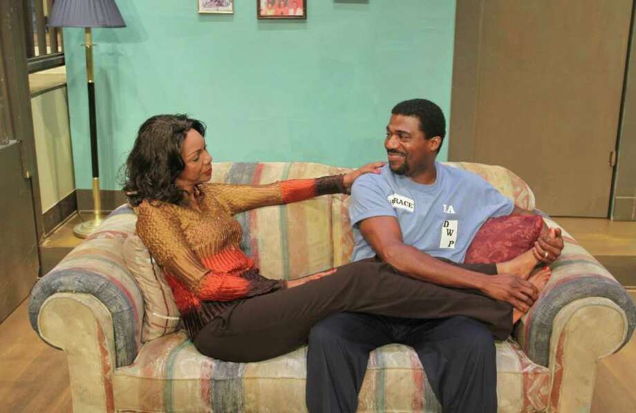CREDIT : CREDIT  COMIC GOLD: Happily married Pearl (Detria Ward) and Horace (Jason E. Carmichael) find their lives changed when they win millions in the Ensemble Theatre's Lotto: Experience the Dream. Photo: Gary Fountain / Copyright 2011 Gary Fountain