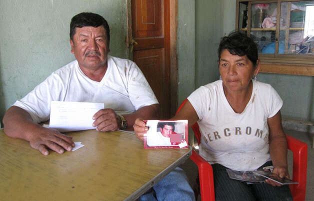 Parents of accused killer Arturo Dota,  Jose and Mariana, at their home in Ecuador. Photo: Contributed Photo