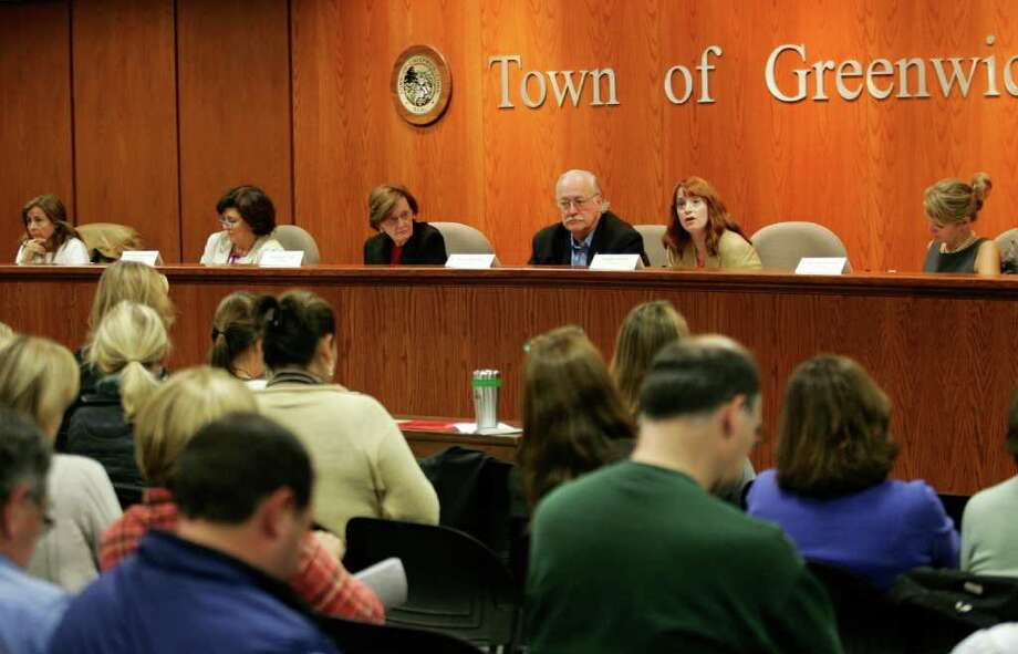 The League of Women Voters of Greenwich and the PTA Council sponsored a forum with the candidates for the Board of Education at Town Hall Friday, Oct. 7, 2011. Photo: David Ames / Greenwich Time