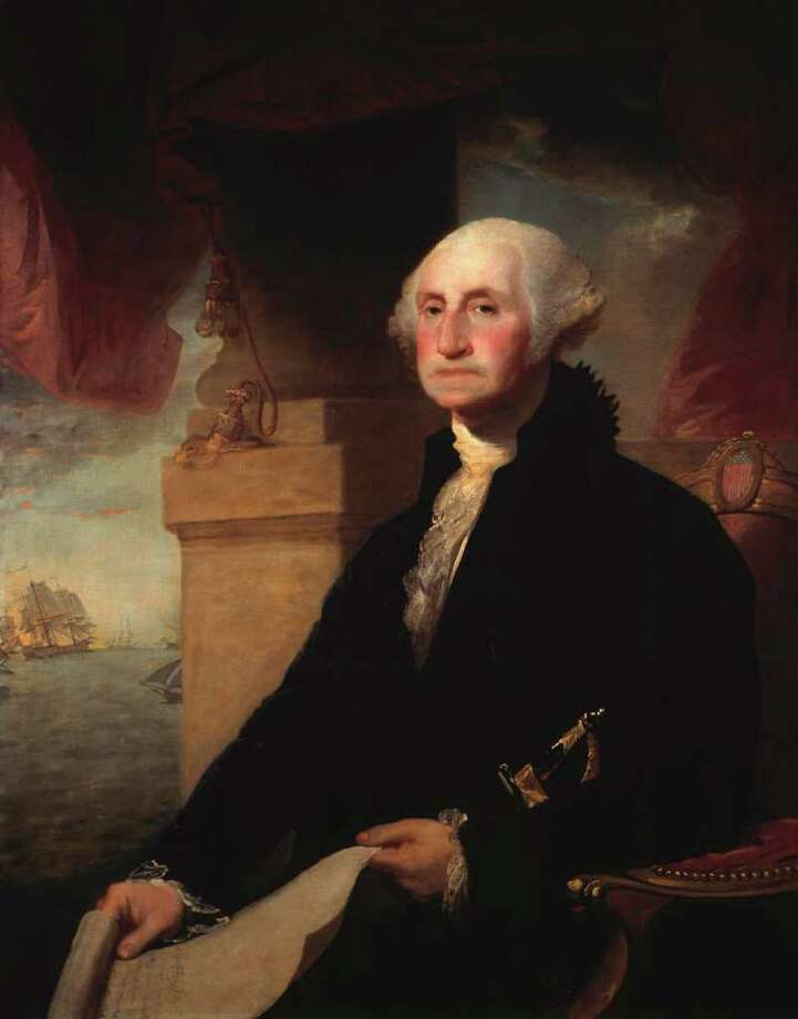 "George Washington took the oath of office on the Holy Bible from St. John's Masonic Lodge No. 1, opened at random to Genesis 49:13. ""Zebulun shall swell by the haven of the sea; He shall become a haven for ships, and his border shall adjoin Sidon."" / handout email"