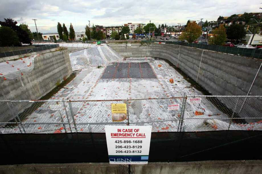 The West Seattle 'hole' is shown on Friday, October 7, 2011. Photo: JOSHUA TRUJILLO / SEATTLEPI.COM