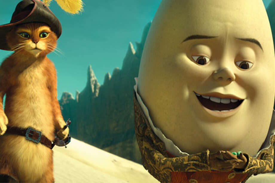 "Puss in Boots and Humpty Dumpty in ""Puss in Boots."""