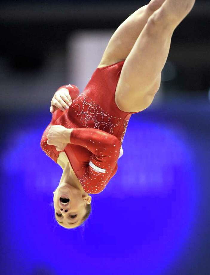 Jordyn Wieber of the US performs on the floor during women's qualification at the world gymnastics championships in Tokyo on October 8, 2011.    AFP PHOTO/KAZUHIRO NOGI (Photo credit should read KAZUHIRO NOGI/AFP/Getty Images) Photo: KAZUHIRO NOGI / AFP
