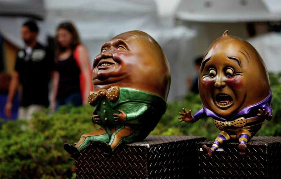Sculptures by Kimber Fiebiger are on display. Photo: Mayra Beltran, Houston Chronicle / © 2011 Houston Chronicle