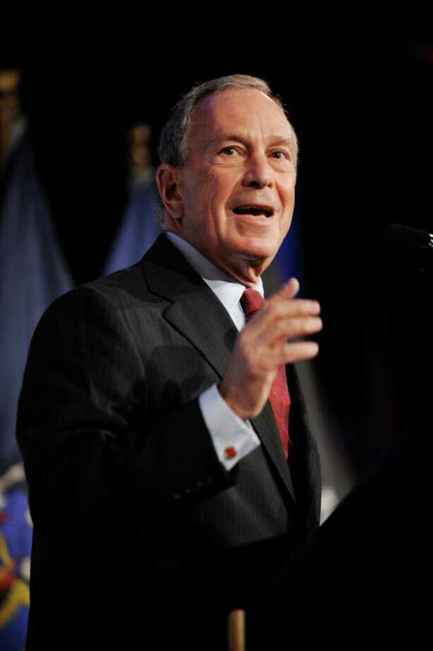FILE - In this Sept. 6, 2011 file photo, New York City Mayor Michael Bloomberg addresses a gathering in New York. New Yorkers are fascinated by the mayor's fortune and the lifestyle that comes with it. His wealth has helped raise Bloomberg's national profile, fed speculation that he would make a self-funded run for the presidency, and provided evidence to voters of the business acumen that was a major rationale for his candidacies.  (AP Photo/Henny Ray Abrams, File) Photo: Henny Ray Abrams