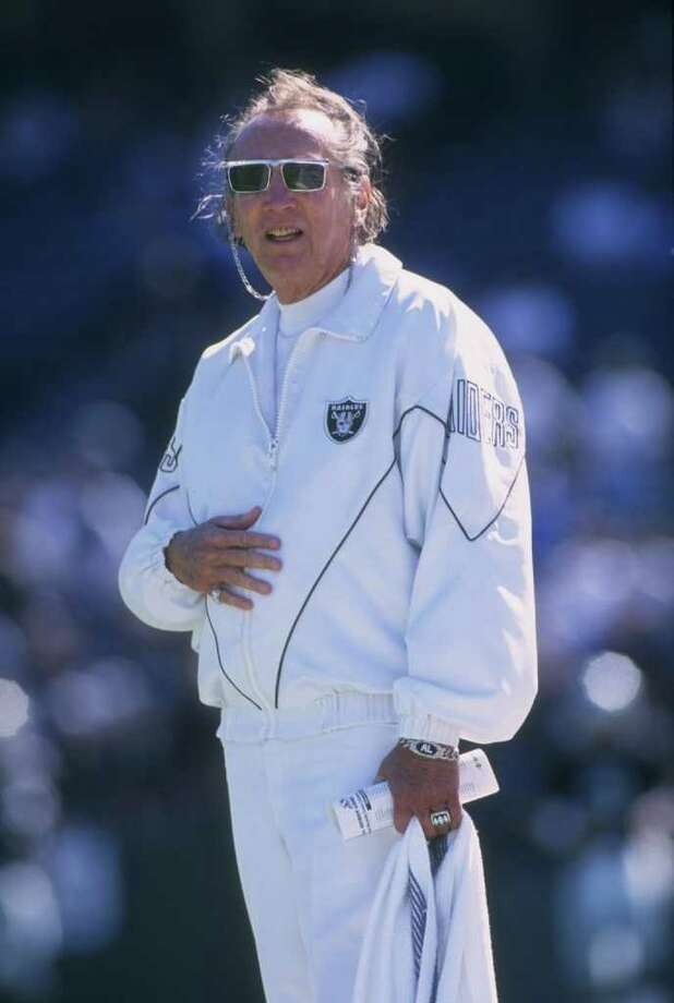 Owner and president Al Davis of the Oakland Raiders attends the Raiders 37-21 victory over the Lions in 1996 at Oakland, California.  Davis, who helped shape the NFL, died at age 82. Photo: Otto Greule Jr/Getty Images / 1996 Getty Images