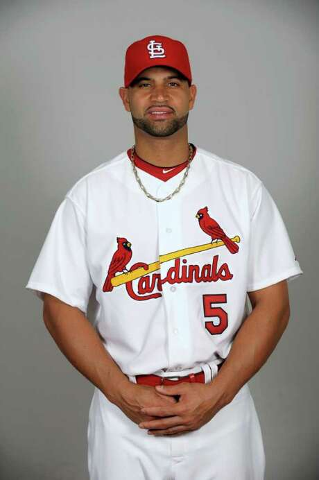 JUPITER, FL - FEBRUARY 24:  Albert Pujols #5 of the St. Louis Cardinals poses during Photo Day on Thursday, February 24, 2011 at Roger Dean Stadium in Jupiter, Florida.  (Photo by Tony Firriolo/MLB Photos via Getty Images) *** Local Caption *** Photo: Tony Firriolo / 2011 MLB Photos