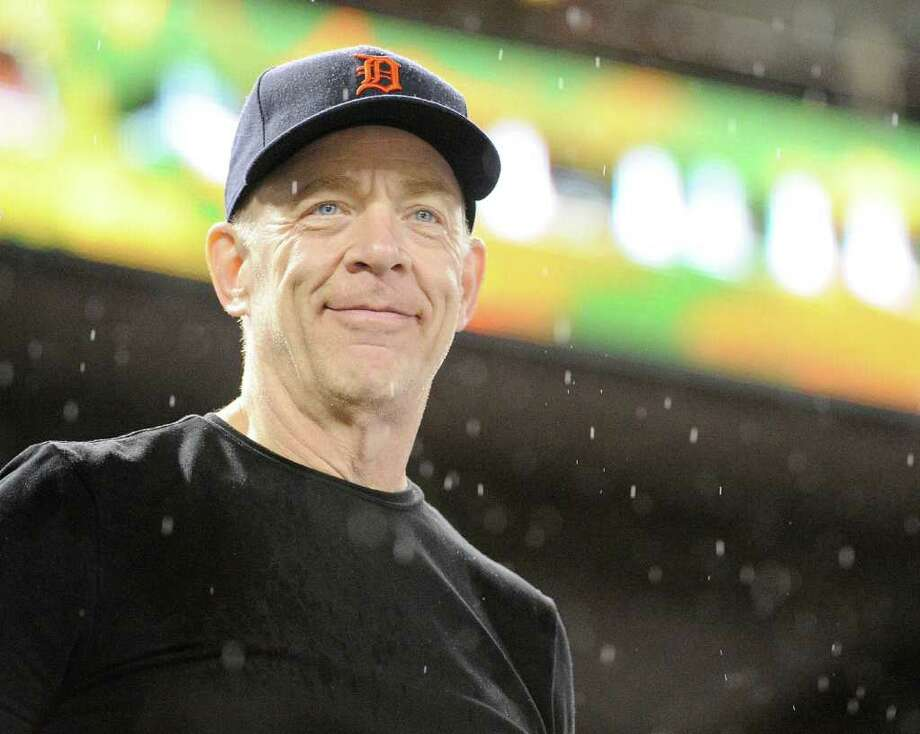 Television personality J.K. Simmons watches as the Detroit Tigers play the Texas Rangers in Game 1 of the American League Championship Series at the Rangers Ballpark in Arlington, Texas, on Saturday, October 8, 2011. (Max Faulkner/Fort Worth Star-Telegram/MCT) Photo: Max Faulkner, McClatchy-Tribune News Service / Fort Worth Star-Telegram