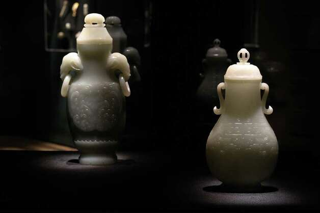 Preview of upcoming Jade exhibit at San Antonio Museum of Art and curator John Johnston on Wednesday, Sept. 28, 2011. Kin Man Hui/kmhui@express-news.net Photo: Kin Man Hui, SAN ANTONIO EXPRESS-NEWS / San Antonio Express-News