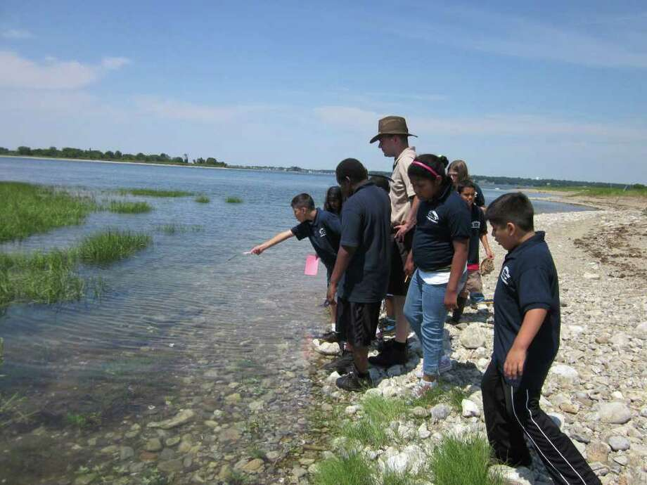 Students in the Friends of the Norwalk Islands education program take a field trip to the Islands as part of the curriculum. Photo: Contributed Photo
