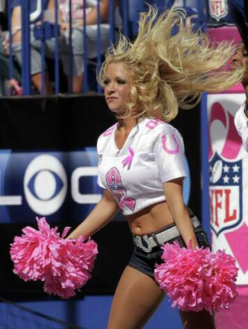 INDIANAPOLIS, IN - OCTOBER 9: The Indianapolis Colts cheerleaders perform for the fans during the their game against the Kansas City Chiefs at Lucas Oil Field on October 9, 2011 in Indianapolis, Indiana. Photo: John Sommers II, Getty / 2011 Getty Images
