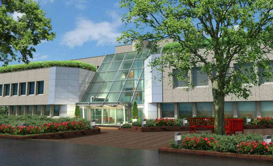 A rendering of TestAmerica's new headquarters at 19 Old Kings Highway South in Darien. Photo: Contributed Photo