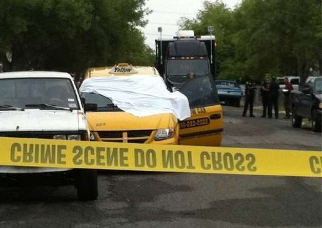 A cab driver was found shot dead early Monday. Photo: Eva Ruth Moravec/emoravec@express-news.net
