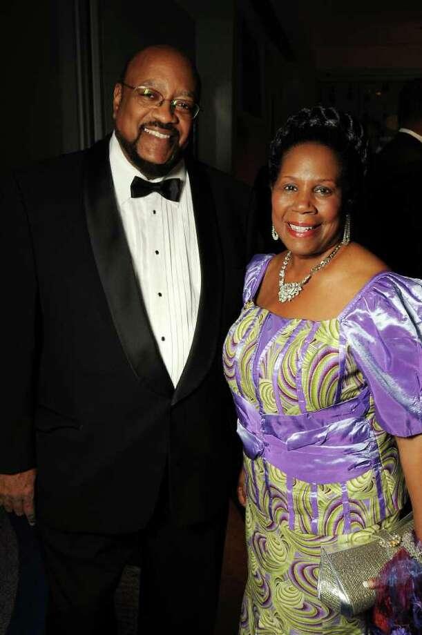 Dr. Elwyn Lee and honoree U.S. Rep. Sheila Jackson Lee Photo: Dave Rossman / © 2011 Dave Rossman