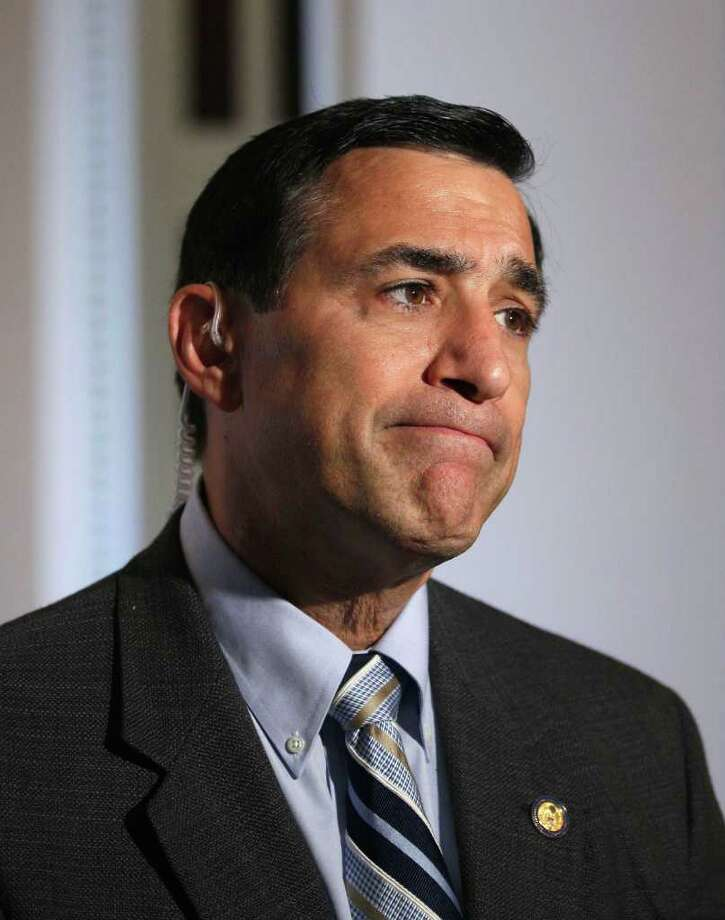 """FILE - In this May 28, 2010, file photo, Rep. Darrell Issa, R-Calif., gives an interview on Capitol Hill in Washington. Isaa said Sunday, Oct. 9, 2011, that he could send subpoenas to the Obama administration as soon as this week over weapons lost amid the Mexican drug war. Isaa suggested on """"Fox News Sunday"""" that Attorney General Eric Holder knew about the gun trafficking operation known as """"Fast and Furious"""" earlier than he has acknowledged.  (AP Photo/Alex Brandon, File) Photo: Alex Brandon / AP"""