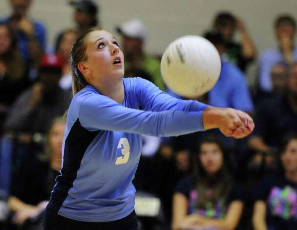 Johnson's Jessica Teel — seen here during a 2010 match —  had 36 assists, 14 digs and 4½ blocks in a five-game victory against MacArthur, and 50 assists in a four-game triumph against Madison. Photo: John Albright/Special To The Express-News / San Antonio Express-News
