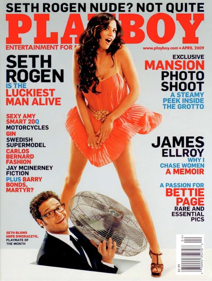 The Playboy magazine cover from April 2009.