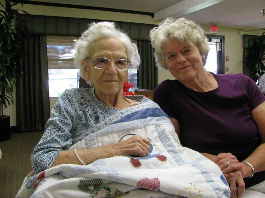 DON MAINES: FOR THE CHRONICLE SHE'S SEEN ALOT: Rosenberg resident Bea Jackson, 100, left, and her daughter, Betty Krueger. Photo: Don Maines