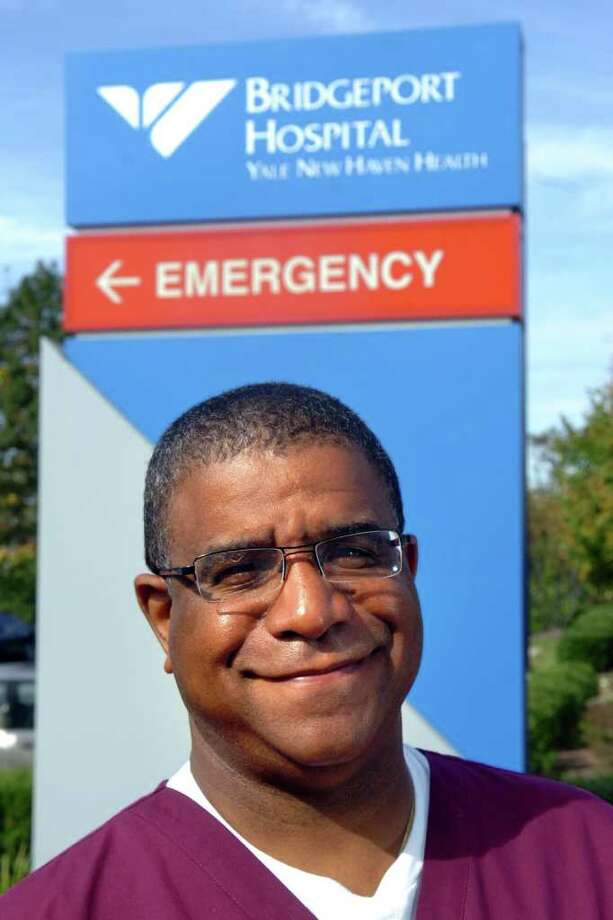 Dr. James A. Sirleaf, senior attending emergency physician at Bridgeport Hospital, in Bridgeport, Conn. Oct. 11th, 2011. Sirleaf's mother, Ellen Johnson Sirleaf is the President of Liberia and has been awarded the Nobel Peace Prize. Photo: Ned Gerard