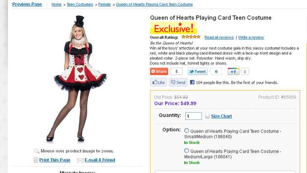 "This costume advertises your daughter can ""win all the boys' affection."" Isn't that what parents are hoping doesn't happen?"
