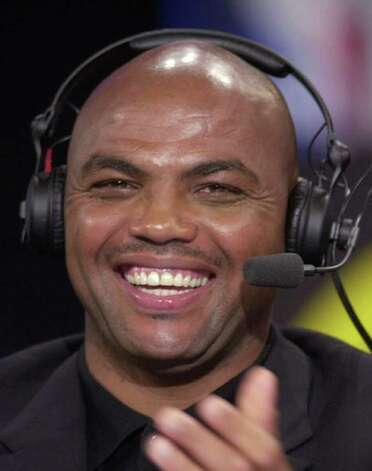 Charles Barkley works with the TNT broadcast  team at the 2001 NBA Draft  at Madison Square Garden in New York, Wednesday, June 27, 2001. Barkley last played with the Houston Rockets in 1999. (AP Photo/Mark Lennihan)   HOUCHRON CAPTION  (02/20/2002)(03/07/2002)(05/26/2004):  Barkley. Photo: MARK LENNIHAN, AP / AP