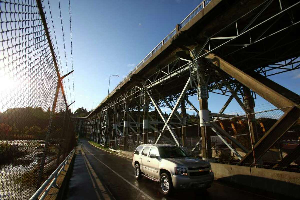 The underside of the Magnolia Bridge is shown on Tuesday, October 11, 2011 in Seattle.