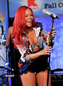 Singer Rihanna performs on ABC's 'Good Morning America' on Wednesday, Nov. 17, 2010 in New York. (AP Photo/Evan Agostini) Photo: Evan Agostini, FRE