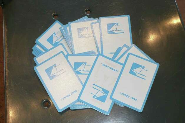"Pan Am playing cards carried great cache back in the day, says Ann Blumenstaadt. ""We could go around the globe and go to a market and buy wonderful things for less if we handed out a pack,"" she says. Photo: Robert Jenna / For The Greenwich"