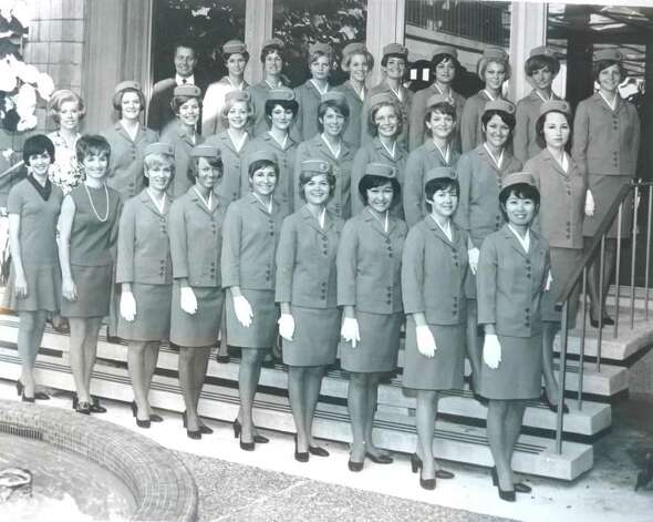 "Greenwich resident Ann Blumenstaadt, second from right in the front row, poses proudly with her graduating class of Pan Am stewardesses in February of 1969. Nancy Hult Ganis, an executive producer of the new ""Pan Am"" series on ABC, is fourth from the left, back row. Blumenstaadt, a Pan Am stewardess for more than 20 years, is a fan of the show. ""It's a great plus to getting the Pan Am story out,"" she says. Photo: Contributed Photo"