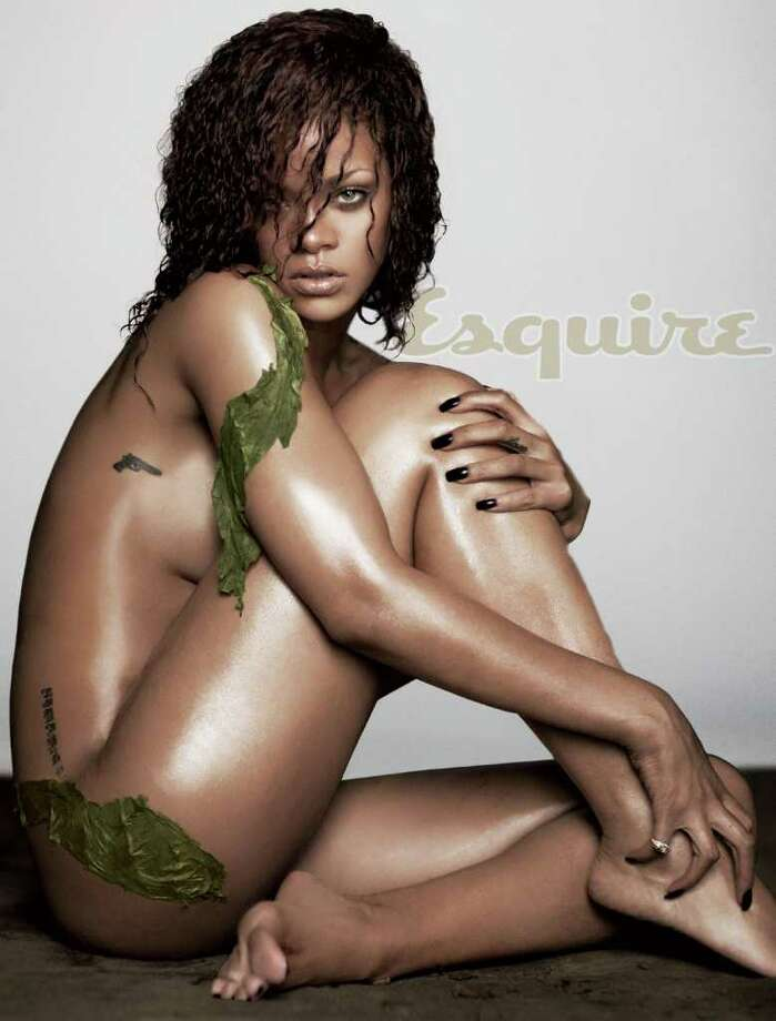 The undressed for Esquire Rihanna.  Photo: Russell James For Esquire