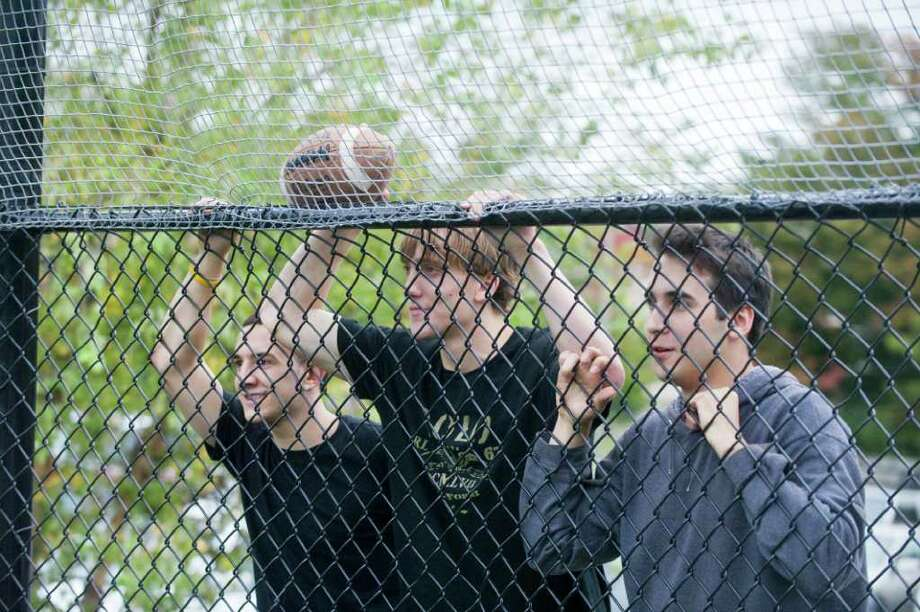 Westhill fans as Westhill High School hosts St. Joseph in a girls soccer game in Stamford, Conn., October 12, 2011. Photo: Keelin Daly / Stamford Advocate