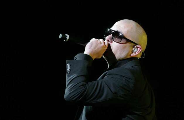 "Pitbull's annoying club music lives with ""Global Warming."" There is a joke to be made here.  Photo: Nick De La Torre, Houston Chronicle / © 2011  Houston Chronicle"