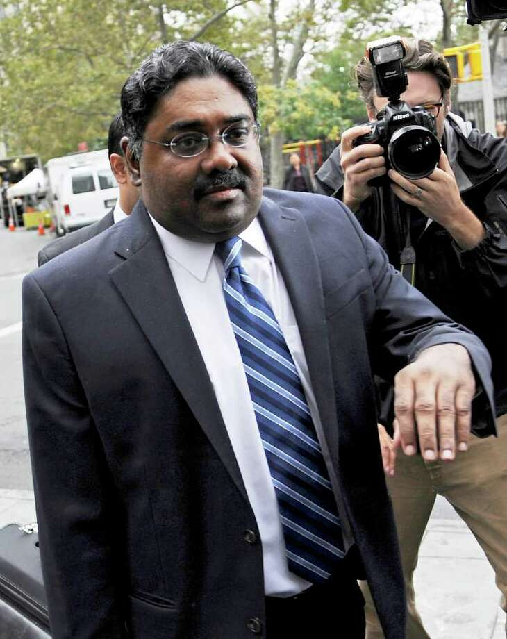 Raj Rajaratnam, co-founder of Galleon Group LLC, enters federal court in New York, U.S., on Thursday, Oct. 13, 2011. Rajaratnam was sentenced to 11 years in prison and a $10 million fine for conspiracy and securities fraud. Photographer: Peter Foley/Bloomberg *** Local Caption *** Raj Rajaratnam Photo: Peter Foley, Bloomberg / © 2011 Bloomberg Finance LP